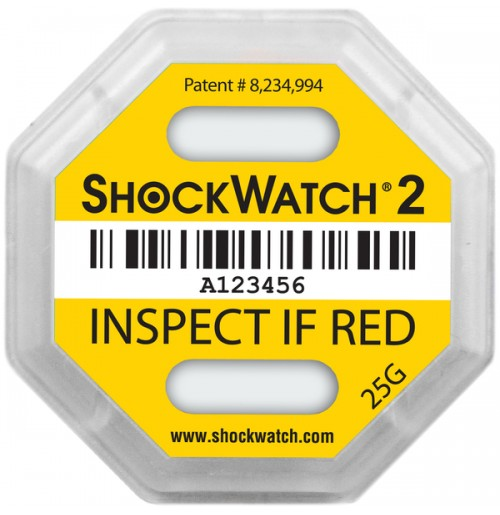 ShockWatch® 2 impact indicators 48000K- 25g
