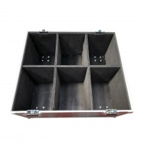 Large Trunk Flight Case With Six Square Foam Padded Divisions