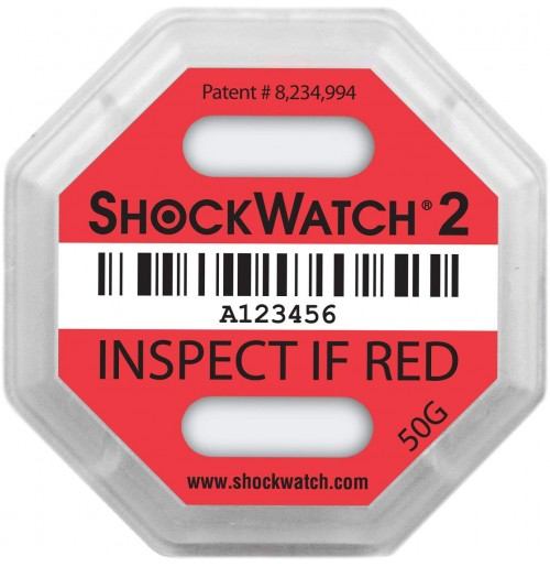 ShockWatch® 2 impact indicators 50000K- 50g