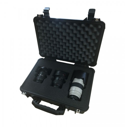 Case And Foam Insert For 3 Canon Lenses In Different Sizes
