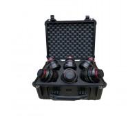 Case And Foam Insert For 6 Canon CN-E Cinema Prime Lenses