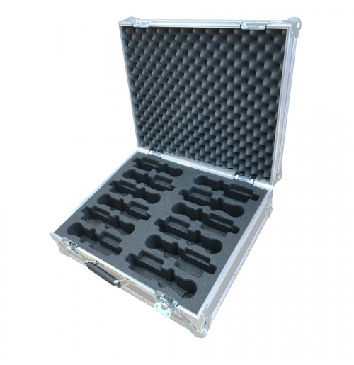 Flight Case for 12 Microphones