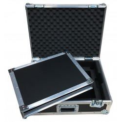 Case with foam insert for 2x UR2 Beta Mics and space for 1U Sleeve to hold Shure UR4D+