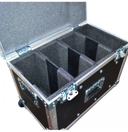 Pull along Style Flight Case for 3 Lawo LCU Remote and extra space for 9 Headsets
