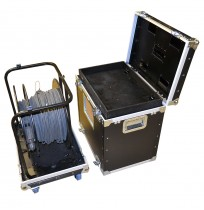 Flight Case for Large Fiber Reel with cable compartment