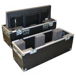 Double Samsung Plasma Monitors ME46C 46 Inch Flight Case