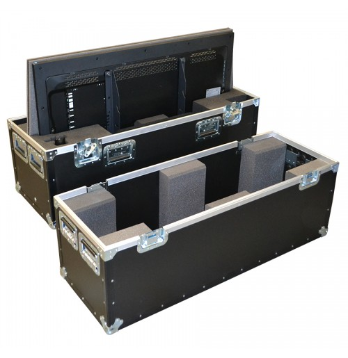 Double Samsung Plasma Monitors ME46C 46 Inch Flight Case