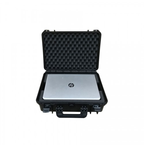 Case And Foam Insert For Two HP 7265NGW Laptops On Top Of Each Other