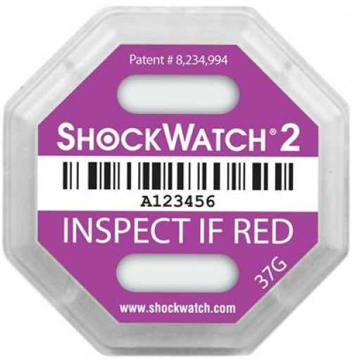ShockWatch® 2 impact indicators 49000K- 37g
