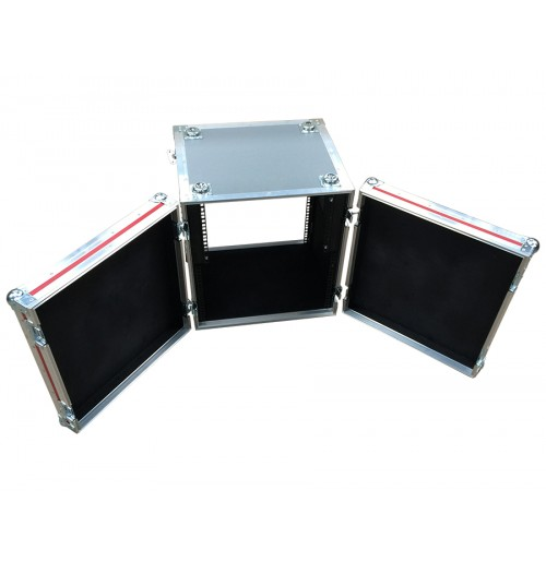 12U Rack Case 500mm Deep with rack strip in front and back