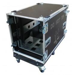 12U Rack Case 800mm deep with metal sleeve - total depth 900mm