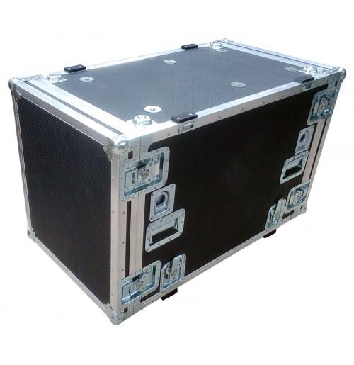 12U Rack Case 800mm deep with metal sleeve