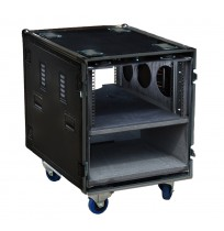 "12RU Custom Cut Road Case - 19"" Rack Mounted Server Case"