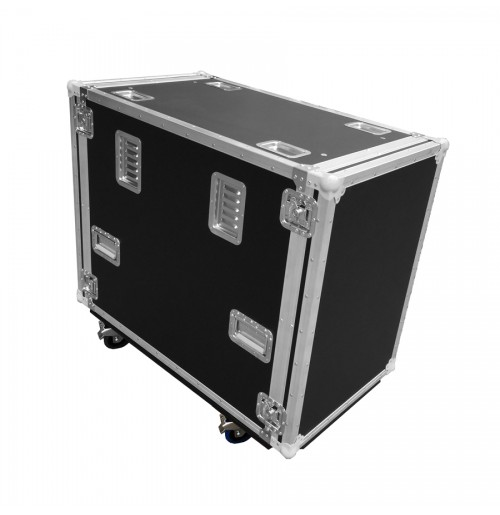 "16RU Custom Cut Road Case 19"" Rack Mounted Cabinet"