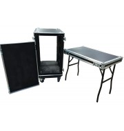 750mm deep Shock Mounted Rack & Table | 18u Rack Case