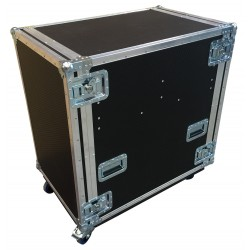 18U Rack Case with 11U Rack Metal Sleeve and drawer