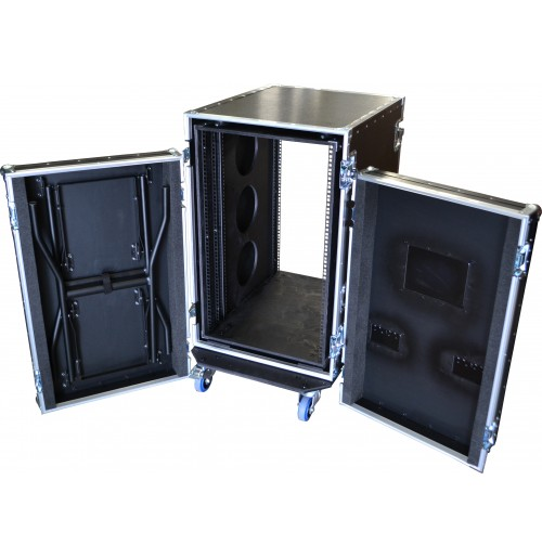 18U Shock Mount Rack 700mm deep & Table | 18u Rack Case