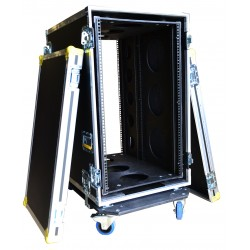 19U Shock mounted Rack Case 700mm deep sleeeve with Removable Dolly