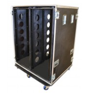 28U Double Bay Shock Mount Rack Case 900mm Deep