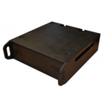 3U Plywood Rack Sleeve with front and back cover lids