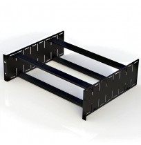R1288/6UK 6U Adjustable Utility Shelf - Black