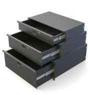 "Black Rack Drawers 367mm 4U R1294K / 14"" Deep"