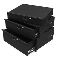 Lightweight Aluminium 4U Rack Drawers 14 Inches