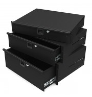 Lightweight Aluminium 2U Rack Drawers 14 Inches
