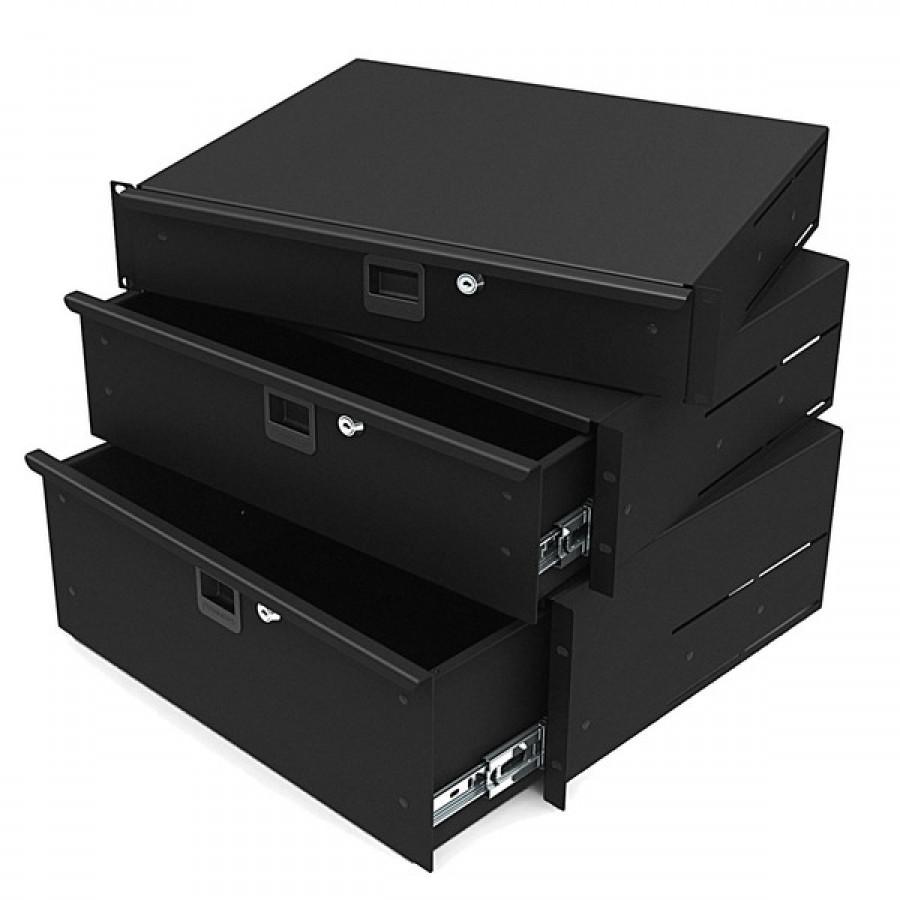 rack drawers 254mm 2u r1292k 10 inch deep. Black Bedroom Furniture Sets. Home Design Ideas