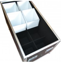 Flight Case for 8x LEDJ LED PAR64 floor cans