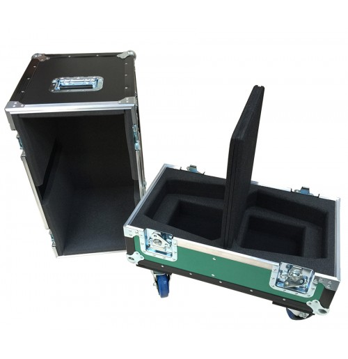 QSC K8 K Series Case with 2 compartments below each speaker for cables
