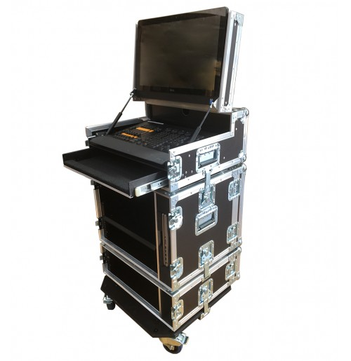 Command Wing MA onPC Case to hold Dell Monitor Intel Core i5 in the lid