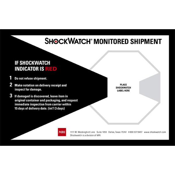 ShockWatch indicator