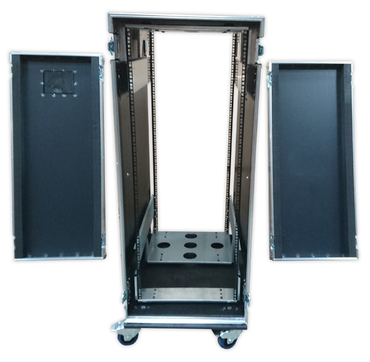28U Shock Mounted Rack Case With Metal Rack System